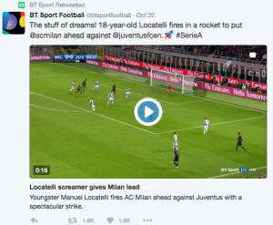 BT Sport Twitter screenshot