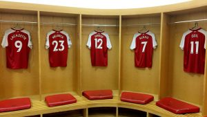 The home dressing room at the Emirates Stadium