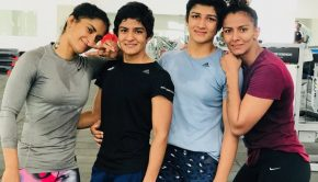 Ritu Phogat (second from left)