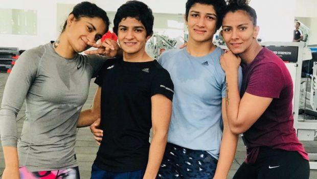 Ritu Phogat (second from left)