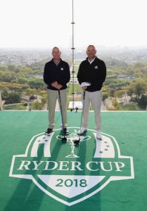 2018 captains Jim Furyk and Thomas Bjorn in Paris