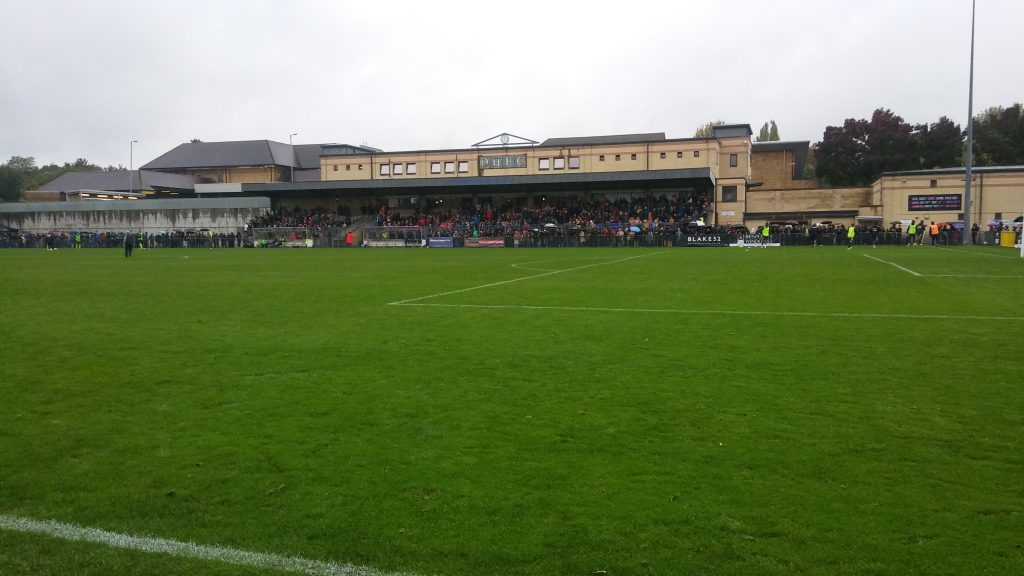 Fans gathered for Non-League day at Champion Hill (C) Brandon Prangell